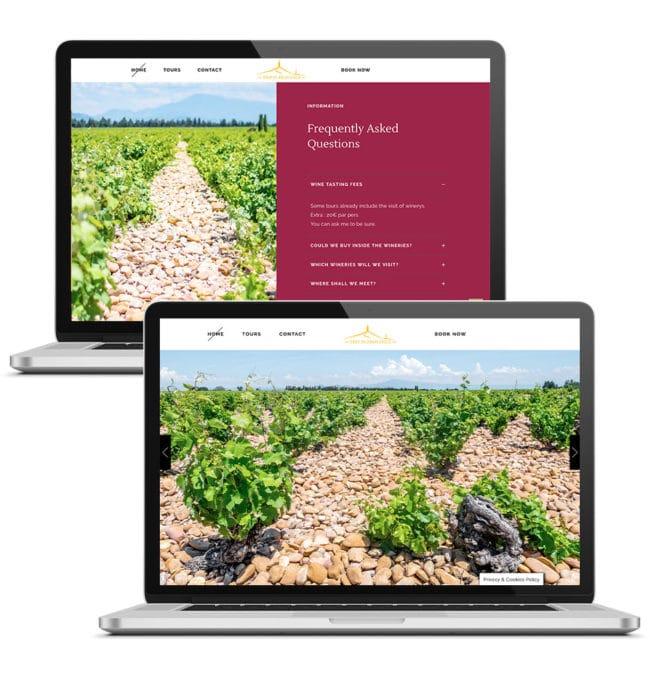 Creation site web vin et spiritueux