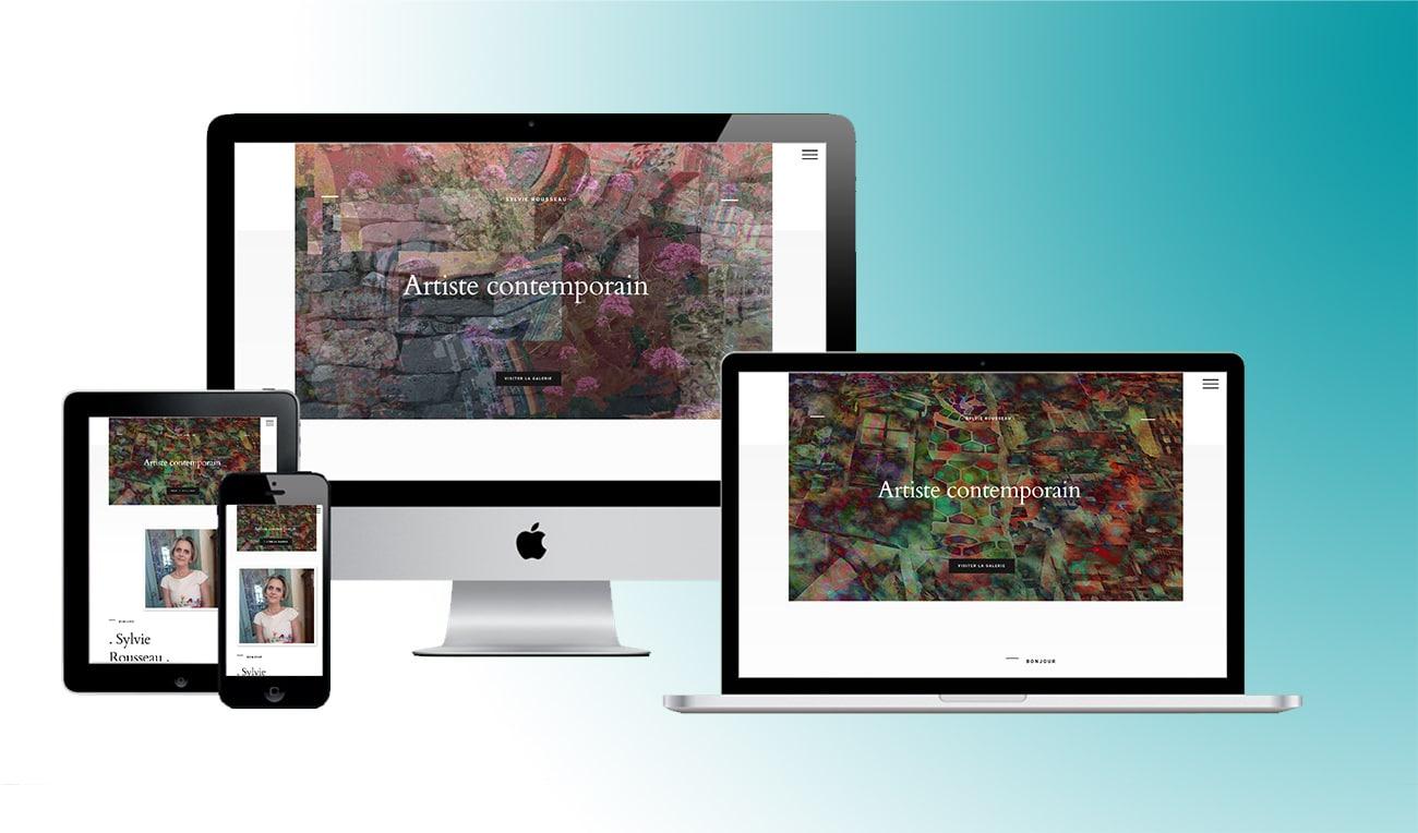 Création de site d'artiste d'art