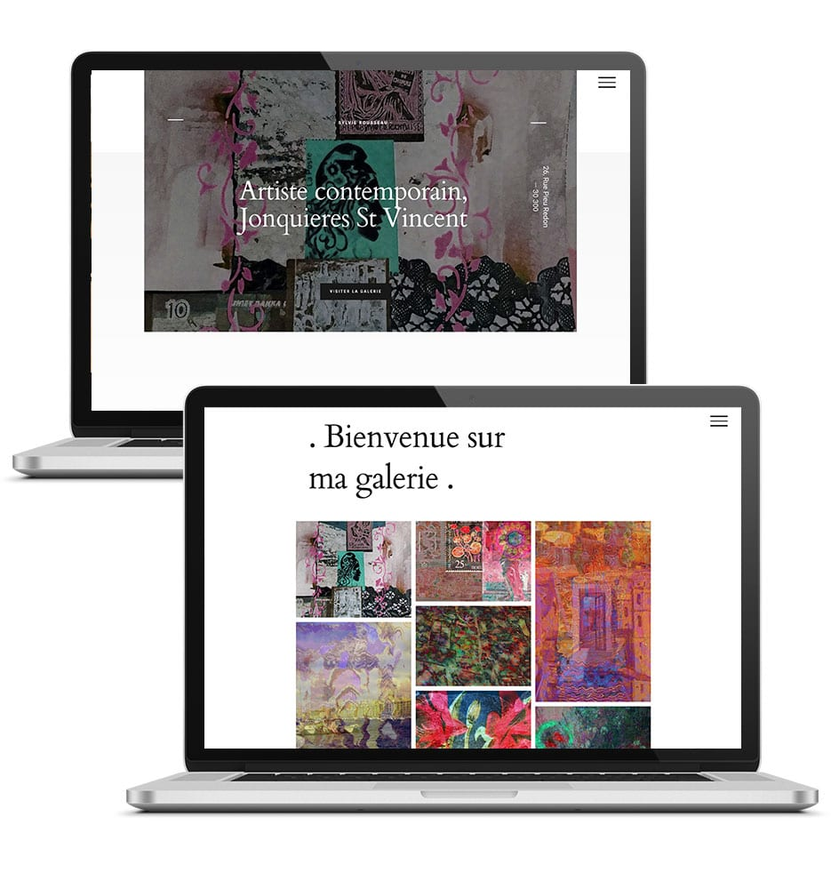 creation site artiste contemporain