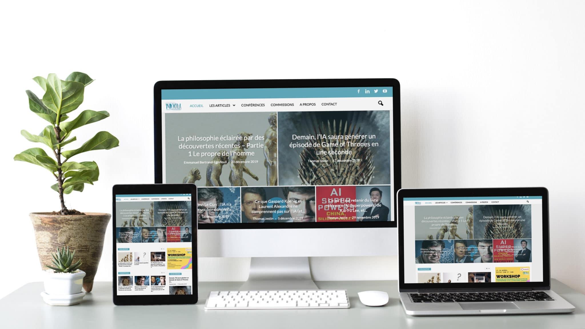 Site d'actualités – NXU